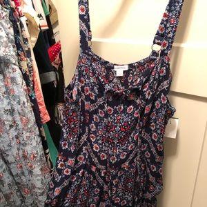 Floral Maxi Jumpsuit